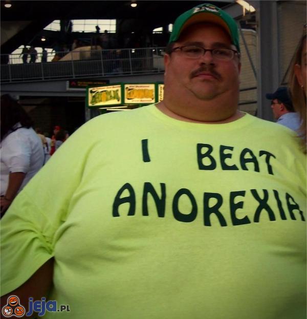 Pokonał anoreksję!