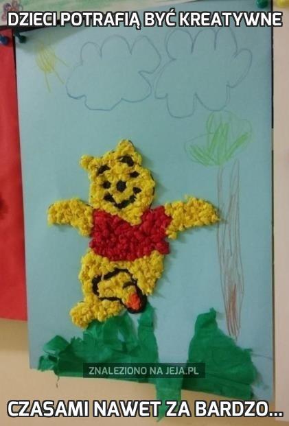 Dzieci potrafią być kreatywne