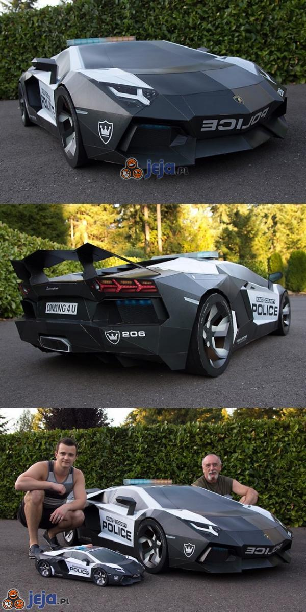 Papierowy model Lamborghini Aventador