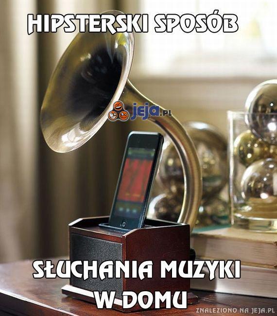 Hipsterski sposób słuchania muzyki w domu