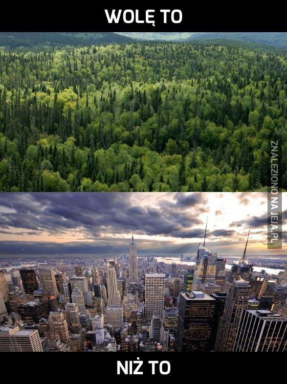Krajobraz przyrody ponad miejskim