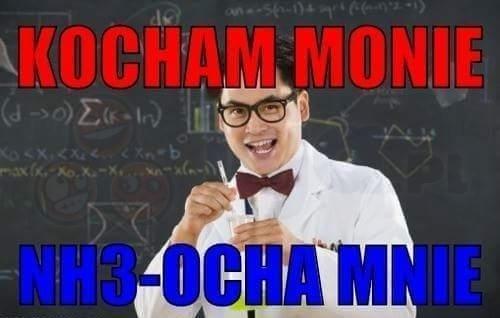 Tylko dobrzy z chemii załapią...