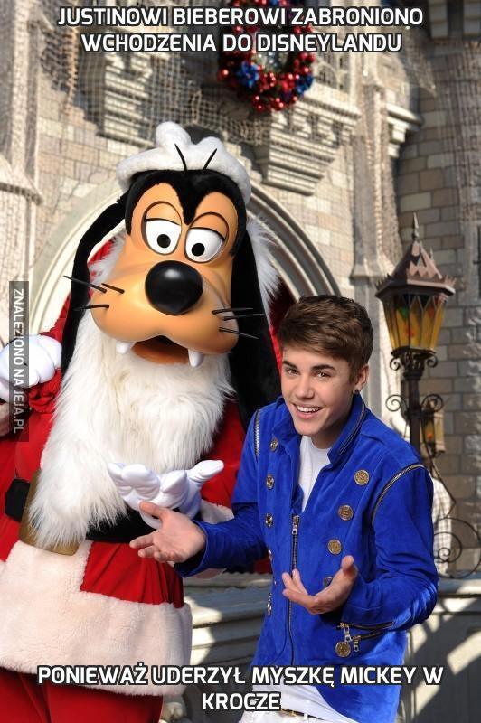 Justinowi Bieberowi zabroniono wchodzenia do Disneylandu