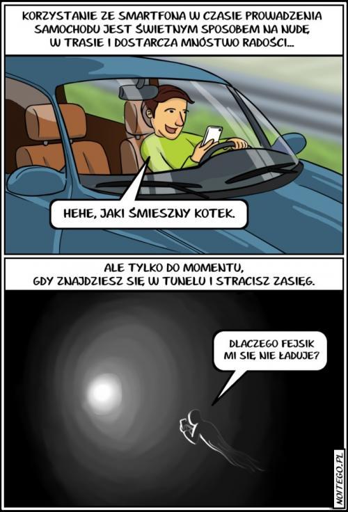 Nudzisz się prowadząc samochód?