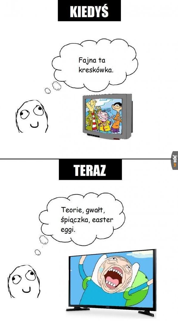 Oglądanie kreskówek kiedyś i dziś
