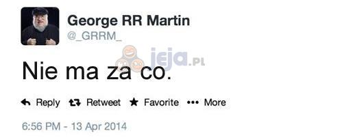 Wiadomość od George'a R. R. Martina