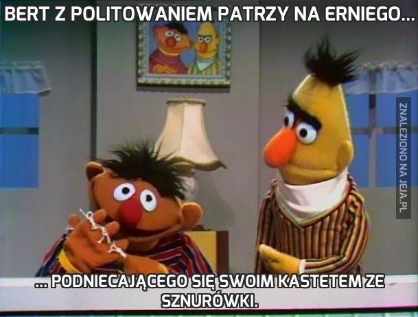 Bert z politowaniem patrzy na Erniego...