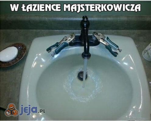 W łazience majsterkowicza