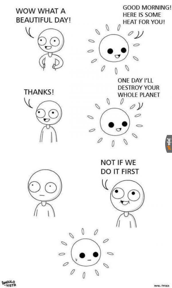 Słoneczko przechytrzone