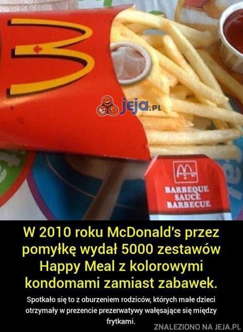 Prezerwatywy w McDonaldzie...
