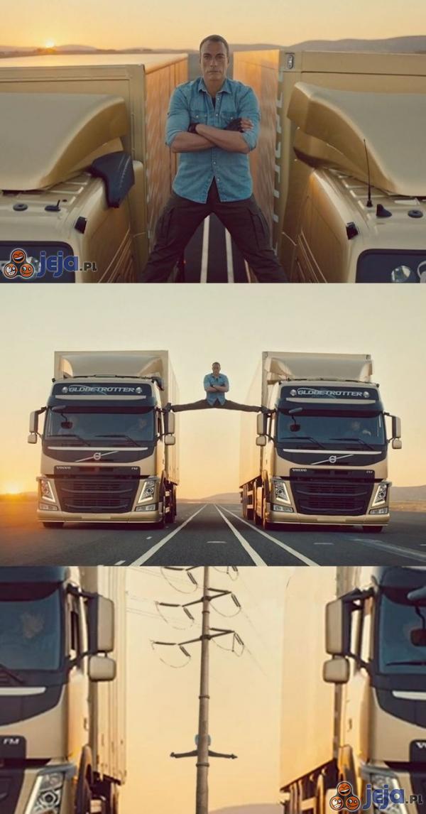 Wycięta scena z reklamy Volvo
