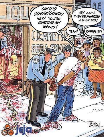 """""""Brutalność"""" policji"""