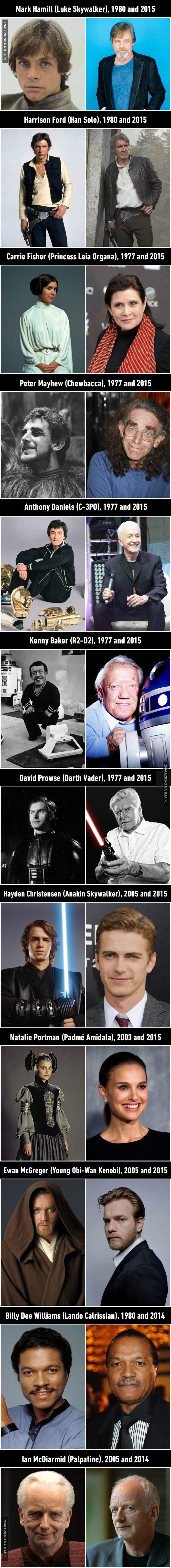 Bohaterowie z Gwiezdnych Wojen kiedyś i dziś