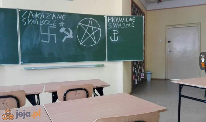 Nauczycielka kazała nam rysować