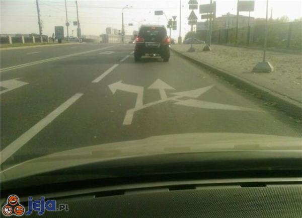 Dziwne oznakowanie na drodze