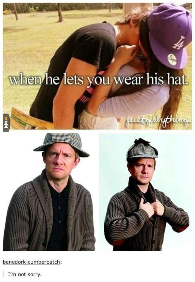 Kiedy on pozwoli Ci ubrać swoją czapkę...