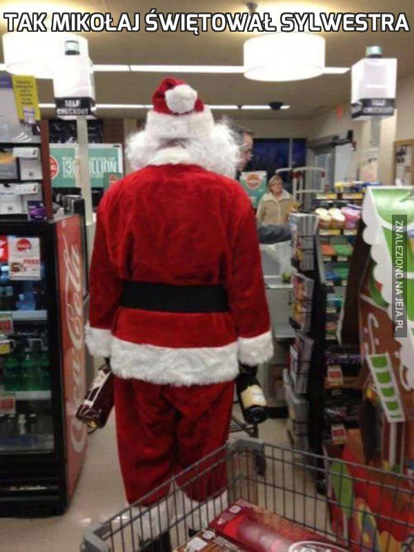 Tak Mikołaj świętował Sylwestra