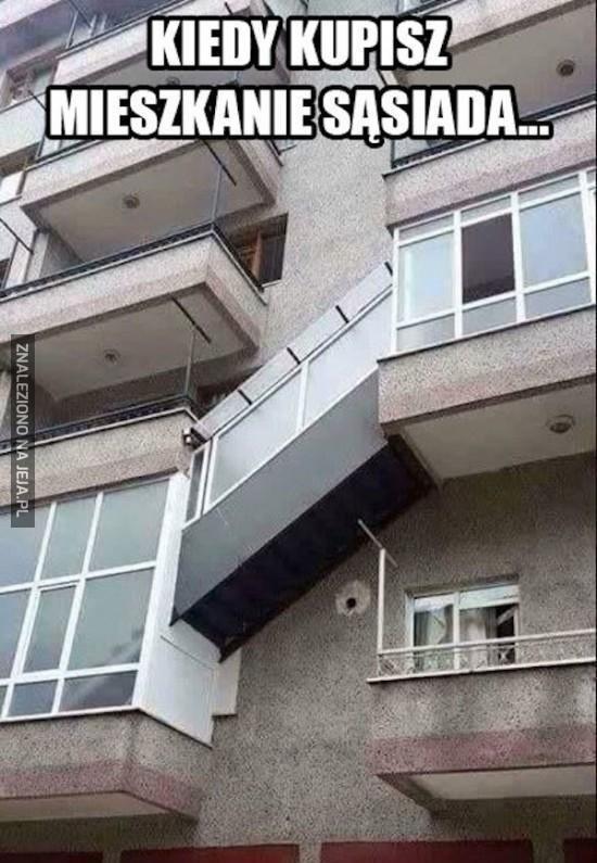 Kiedy kupisz mieszkanie sąsiada