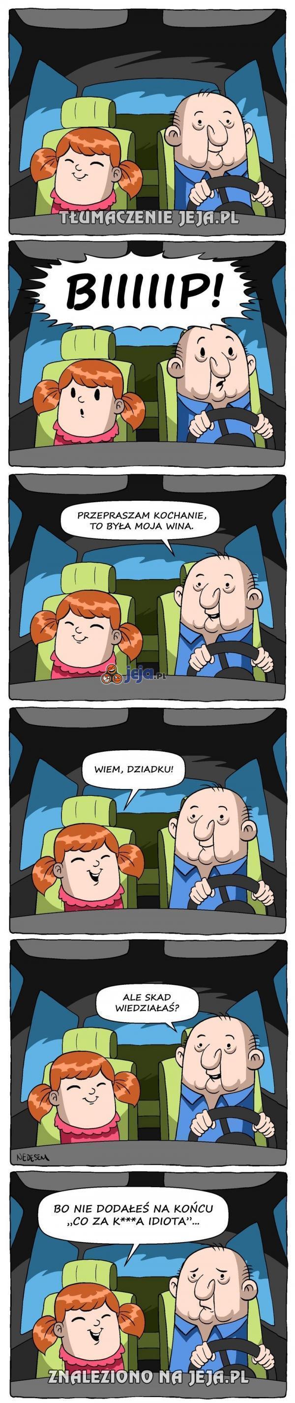 Milczenie kierowcy mówi wszystko...