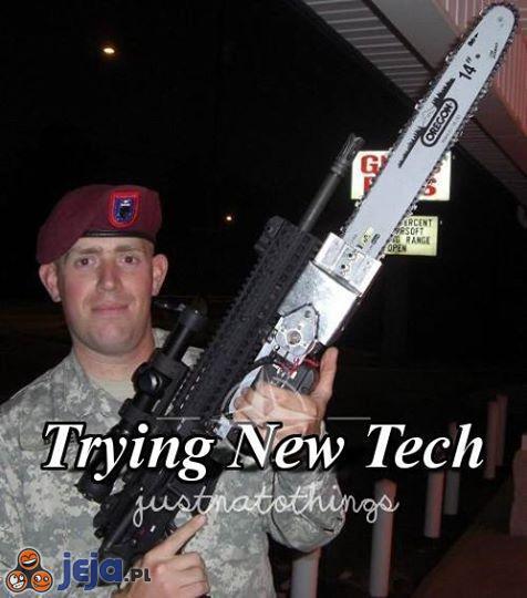 Próbowanie nowej technologii