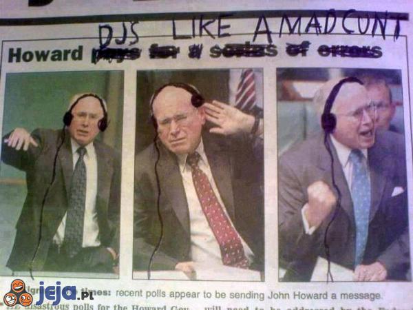 DJ Howard rozrusza nawet posiedzenie sejmu
