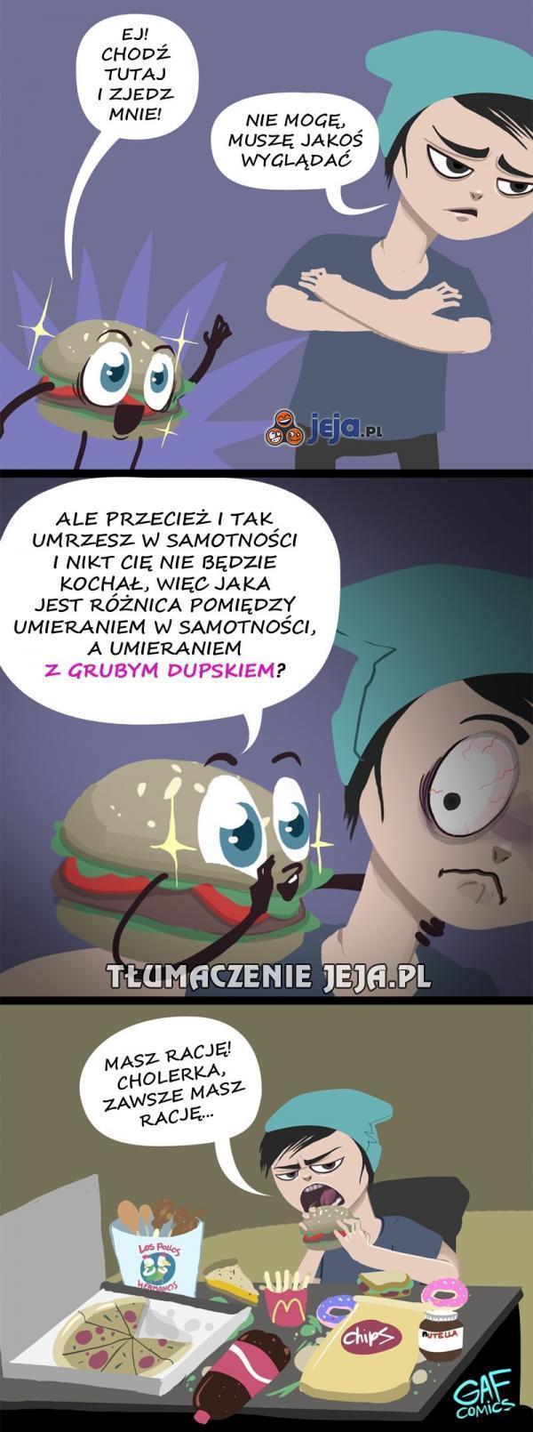 Hamburger radzi, hamburger nie zdradzi