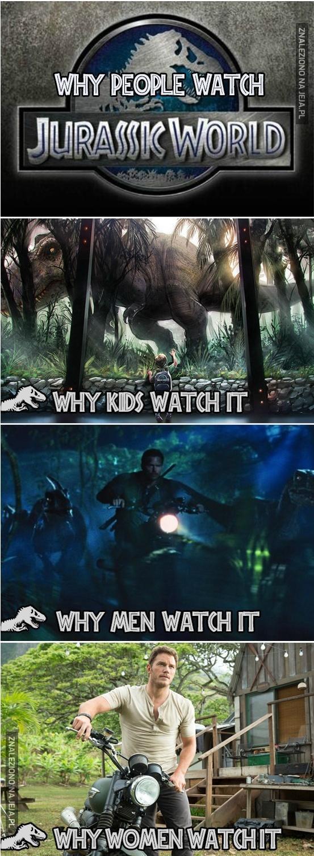 Dlaczego ludzie oglądają Jurassic World