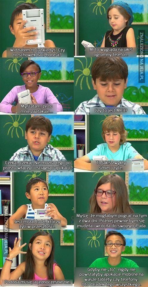 Dzisiejsze dzieci i gameboy
