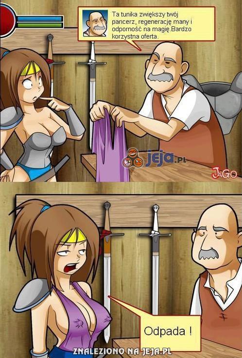 Te damskie pancerze w grach MMO...