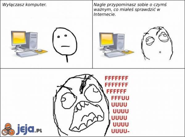 Gdy wyłączysz komputer
