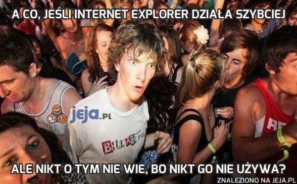 A co, jeśli Internet Explorer działa szybciej