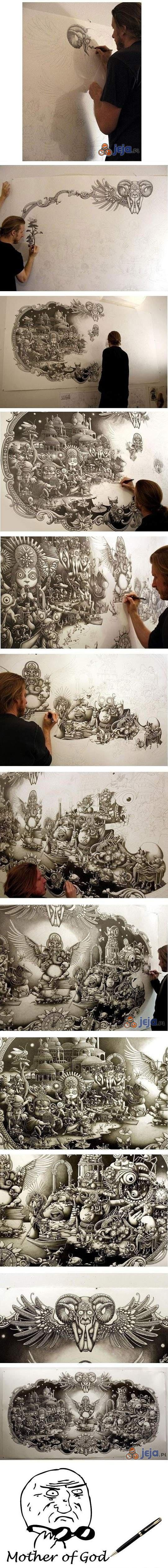 Sztuka spod zwykłego długopisu