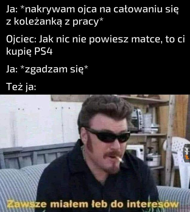 Tytuł gra ze mną na PS4