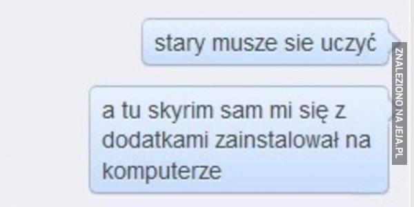 Skyrim vs szkoła