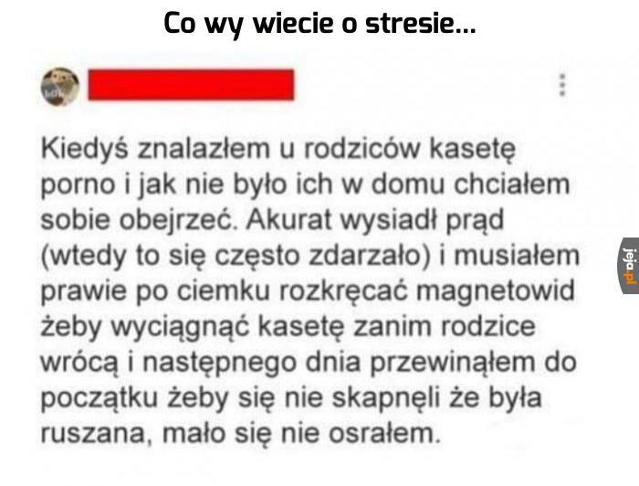 To dopiero stres