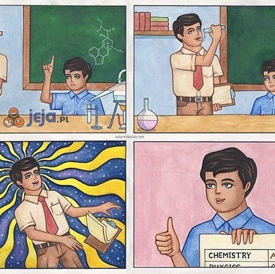 Chemia to mój ulubiony przedmiot