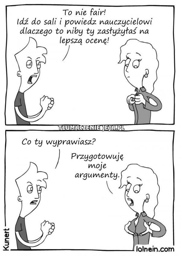 Dwa argumenty nie do przebicia