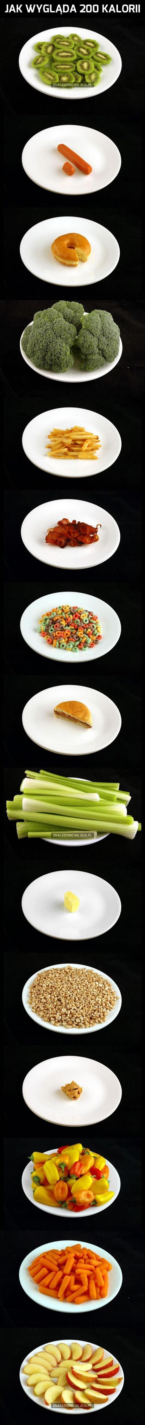 Jak wygląda 200 kalorii