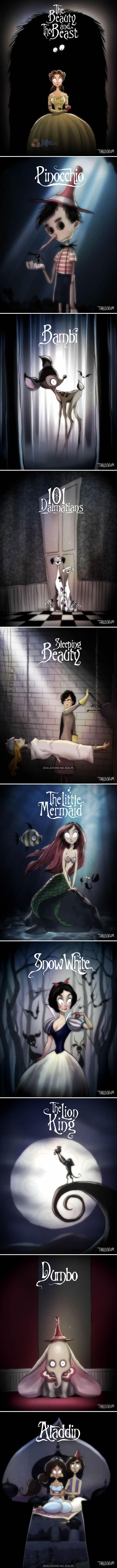 Gdyby Tim Burton nakręcił filmy Disneya