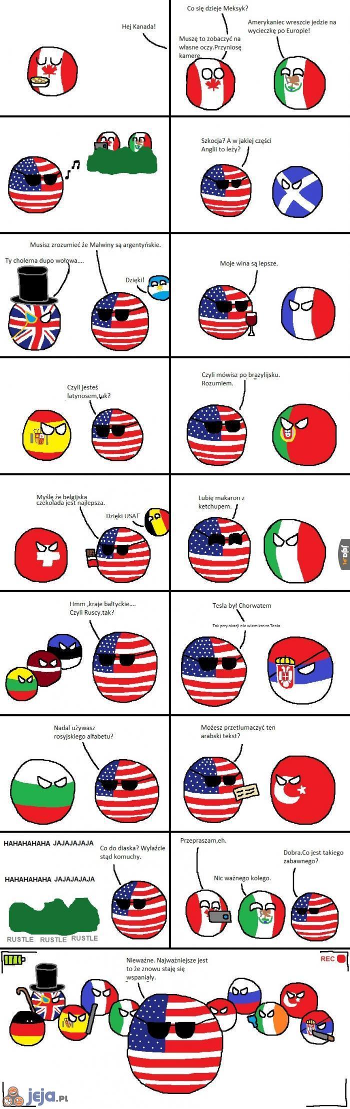 USA jedzie na wycieczkę po Europie