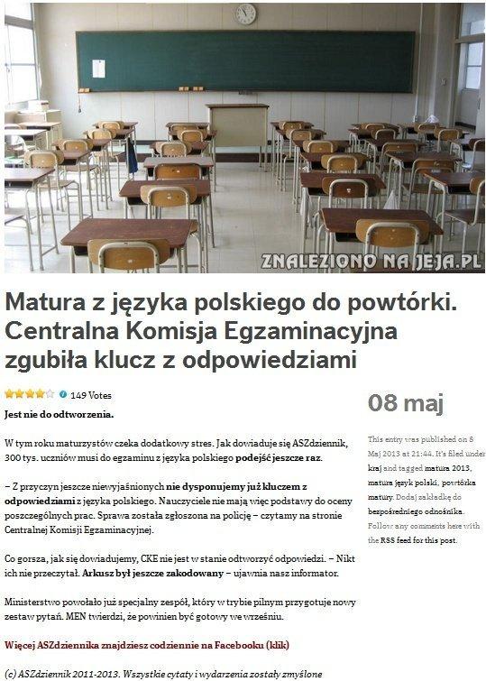Matura z języka polskiego do powtórki