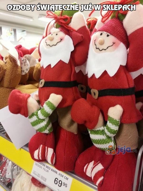 Ozdoby świąteczne już w sklepach