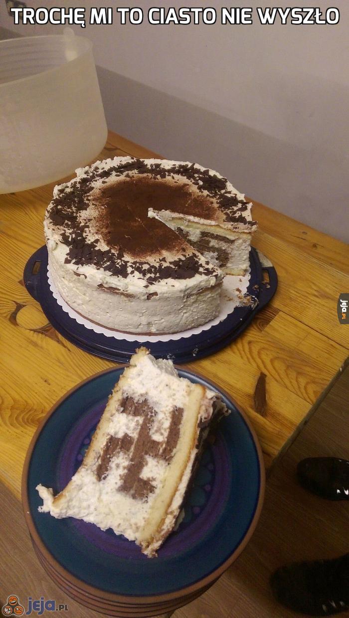 Trochę mi to ciasto nie wyszło