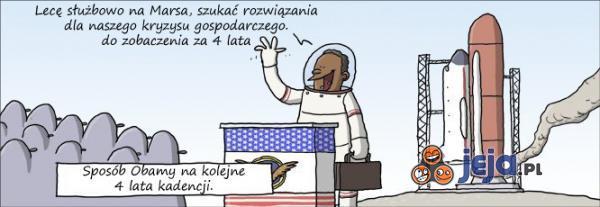 Obama leci na Marsa
