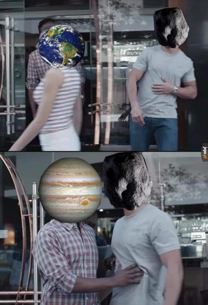 Jowisz chroni nas przed asteroidami