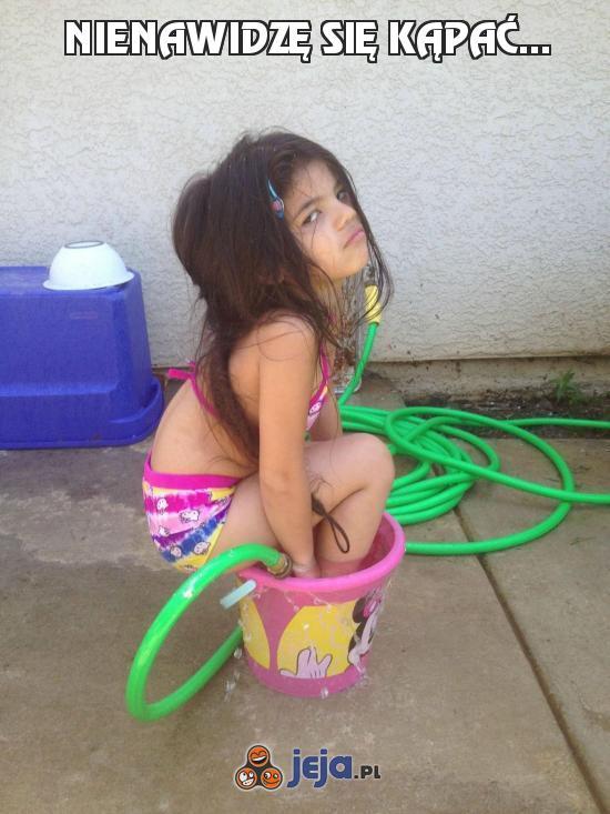 Nienawidzę się kąpać...