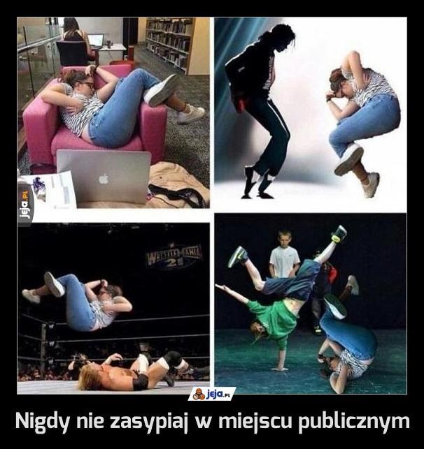 Nigdy nie zasypiaj w miejscu publicznym