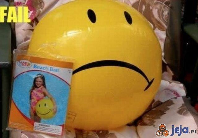 Uśmiechająca się piłka
