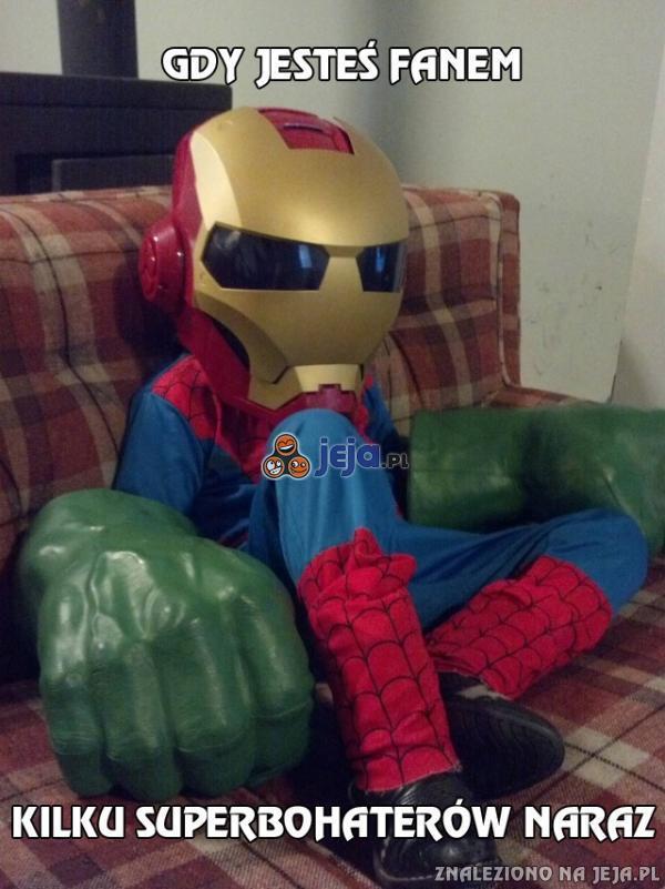 Gdy jesteś fanem kilku superbohaterów