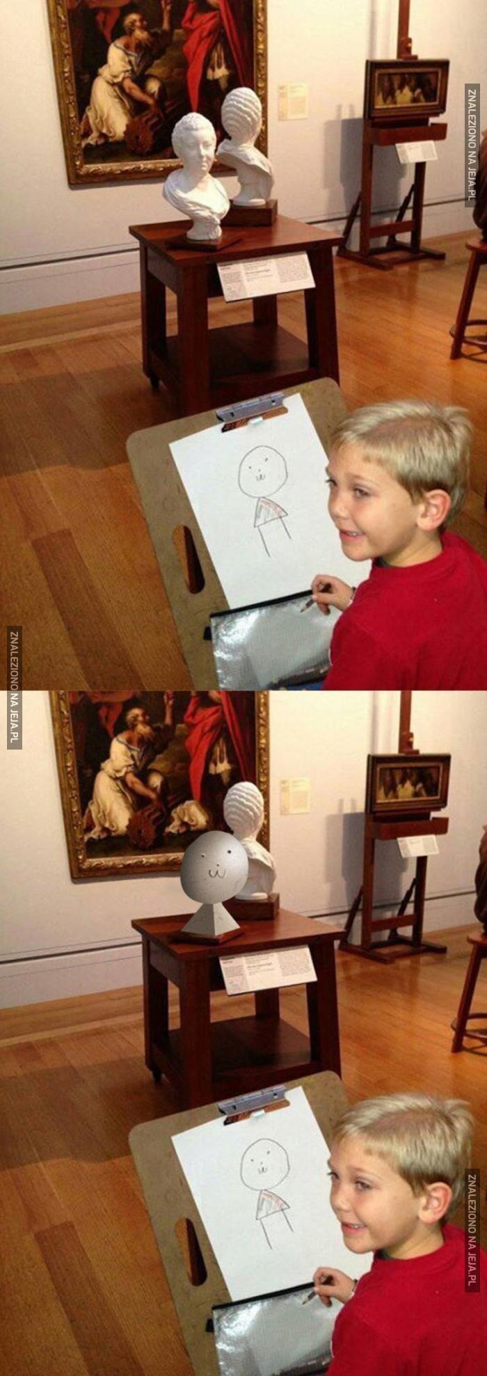 Ależ realistyczny rysunek, brawo!